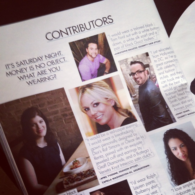 I so enjoyed styling the Women of Style piece in Fall issue of DC Modern Luxury Magazine!